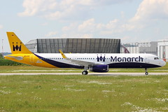 D-AVXH // Monarch Airlines // A321-231(WL) // MSN 6126 (Martin Fester - Aviation Photography) Tags: airplane aircraft hamburg monarch planes airbus msn runway taxiway a321 firstflight finkenwerder 0523 spotten 6126 monarchairlines xfw sharklets davxh a321231wl gzbao msn6126