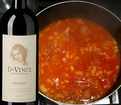 Fagioli all'uccelletta e Da Vinci Chianti (cantineleonardodavinci) Tags: beans wine davinci tuscany chianti toscana vino pairing fagioli abbianamento uccelletta