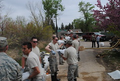 Saratoga flood relief May 2014 (wyoguard) Tags: flood saratoga relief wyng wyomingnationalguard