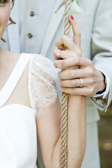 Carl & Fi (hollie*d4) Tags: wedding france french groom bride hands couple dress lace rope swing suit rings nails provence