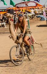 The Trickster - AfrikaBurn 2014 (Frog_Foot) Tags: africa bicycle festival southafrica desert camel karoo tankwa afrikaburn