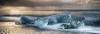 Stranded (Kristinn R.) Tags: sea sky ice beach clouds sunrise iceland nikon jökulsárlón nikonphotography breiðamerkursandur kristinnr d800e