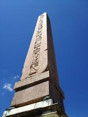 Egyptian obelisk in the Baboli Gardens (radiowood) Tags: flowers italy art florence egypt medieval obelisk