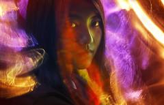 Self Portrait (inhiu) Tags: longexposure light portrait people lightpainting color nikon inhiu