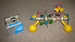 Jumble sale finds (uncoolbob) Tags: digital sale jumble purchases capsela constructionset pointandshootcamera canonpowershotsx110is