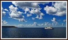 Gozo Channel Line (tor-falke) Tags: clouds meer wasser europa europe sony ngc wolken malta nuages schiff gozo mittelmeer sonyalpha alpha200 torfalke flickrtorfalke alpha200230