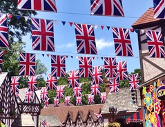 God Save The Queen (Little Hand Images) Tags: virginia flags banners unionjack iphone buschgardenswilliamsburg englandsflag littlehandimages
