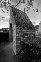 Lychgate, Dyke Parish Church (Wheatley Images) Tags: blackandwhite bw white black monochromatic