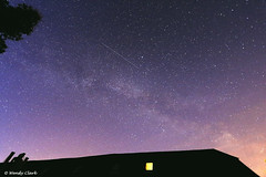 Milky Way Rising over the Barn (twinklespinalot) Tags: astrophotography astronomy 1022mm satellites milkyway canoneos700d