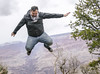 Jumping in Grand Canyon [explored] (Michele Cannone) Tags: people usa jump dynamic canyon