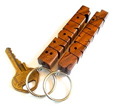 Walnut Wood Name Keychains (DustyNewt Scott) Tags: wood wooden carved keychain keyring handmade name walnut souvenir brandy promotional samuel woodworking personalized fob nickname dustynewt