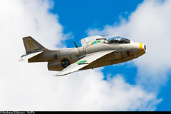 SE-DXB Saab J29F Tunnan Swedish Air Force Historic Flight (Andreas Eriksson - VstPic) Tags: force air flight swedish historic years 70 saab base f17 ronneby tunnan sedxb j29f