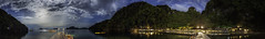 Miniloc Island Panorama (Lorenzo's Photos) Tags: panorama night philippines el resort moonrise tropical nido palawan miniloc