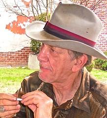 WATERMELON SLIM ~ Watch: (Shein Die) Tags: portrait mississippi hands nikon south blues clarksdale watermelonslim jukejointfestival