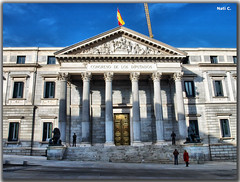 Palacio de las Cortes (Nati C.) Tags: madrid hdr palacio cortes aquitectura