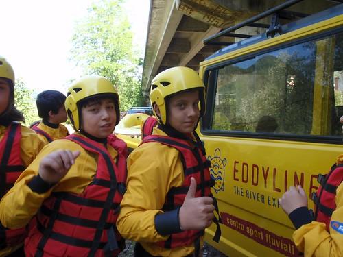 Scolari in rafting