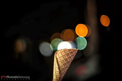 Ice Cream Bokeh (مصطفی یکرنگی) Tags: ice night bokeh cream شب bookeh بوکه