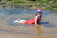 Cheesy Grin (karllaundon) Tags: family sea summer sun cute beach fun happy seaside day child laugh northeast rockpool redcar