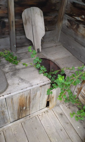 Fort Selkirk outhouse