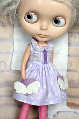 When I Am Old I Shall Wear Purple (Button Arcade) Tags: wool hearts dress purple felt blythe pockets buttonarcade