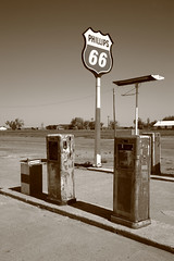 Route 66 Gas Pumps (Frank Footer Fotos) Tags: road trip travel vacation sky usa sun white black southwest west art classic home sunshine station sign wall sepia rural america vintage landscape photography freedom town highway midwest pumps texas pavement framed tx small country rustic phillips fine mother rusty murals sunny roadtrip landmark 66 retro gas adventure business route nostalgia signage posters buy prints americana service kicks remote adrian lonely motor roadside decor rt isolated filling panhandle midpoint attraction attractions blacktop sixtysix