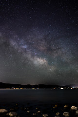 Heavens (melfoody) Tags: longexposure lake night canon stars rocks laketahoe heavens milkyway 5dmkiii sigma35mmart
