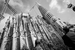 La Sagrada Familia (@KelvinLiu) Tags: barcelona travel bw architecture blackwhite spain gothic artnouveau lasagradafamilia antonigaud