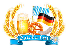 Oktoberfest (TriangleOktoberfest) Tags: blue food white color texture beer glass sign festival illustration germany munich bread bavaria gold design pattern state symbol drink background render label flag text country border nation banner culture sausage ears pride icon oktoberfest glossy national alcohol frame round mug ribbon tradition cooked vector edelweiss bavarian weisswurst bretzel prezel