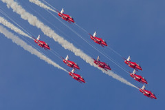 Red Arrows - Royal Air Force (RAF) -Royal International Air Tattoo 2014 - RAF Fairford