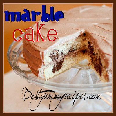 Marble Cake with Chocolate Buttercream