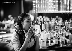 Surprise (Rafe Abrook Photography) Tags: vegas usa gambling lady bar hotel lasvegas nevada casino drinks tables surprise waitress bartender slots slotmachines cosmopolitanhotel cosmpolitan