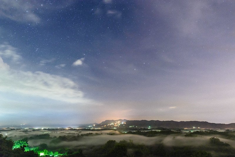 Sea of clouds & Starry night, Erliao