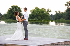 Stephen & Laura (olivia_rehman) Tags: bridge trees wedding sunset sky white cute love nature beautiful hair happy groom bride dock pond kiss couple pretty dress view mr young scenic ceremony adorable marriage husband suit rings reception together wife forever gown suspenders mrs weddingday tux mrandmrs