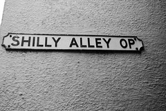 Shilly Alley Op (zawtowers) Tags: street summer holiday streets fountain sunshine sign fishing inn alley warm cornwall break village small july op narrow mevagissey kernow 2014 shilly lannvorek