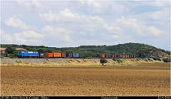 Dando color a la imperial (Trenes2000) Tags: diesel tren trenes mercancias teco traccion rail contenedores hapag lloyd plataformas bilbao coslada 333 333384 privada vossloh trenes2000 mercante
