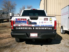 Truck Partial Wrap (zakschroeder) Tags: flatbed flat bed truck wrap graphic graphx design wrapped vehicle vehiclegraphics truckwrap vehiclewrap wrapokc wrapokccom gallery alpharoofing ar justinbarr jb bill harold roofer contractor constrution asphaltshingles clayshingles 2015fordf150 2016fordf150 crewcab ccab shortbed sbed