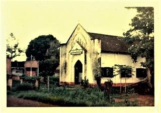Minox subminiature camera photos: perhaps a Christian church.