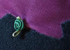 a fanciful tail (quietpurplehaze07) Tags: clothtextile pug appliqué black purple felt material cushion cushioncover daughter macro mondays macromondays macrounlimited