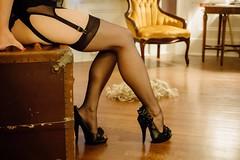 Manuel 1 (NolaChick) Tags: nola neworleans retro pinup vintage stockings lingerie wig pale brunette redlips mysterious garters heels nolachick sidneymanuel sunglasses antique