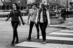 Crossing 8th Street (alhawley) Tags: american bw usa blackandwhite candid everytownusa fujifilmxt10 fujinonxf35mmf2rwr monochrome photoessay street streetphotography