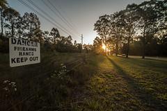 Don't shoot! (OzzRod) Tags: pentax k1 irix15mmf24blackstone sunset sunburst shadows intothesun cessnock