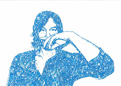 Blue (hillel_018) Tags: norman mark reedus january 6 1969 hollywood florida usa the boondock saints walking dead daryl dixon badass hillel zavala hillelzavala scribbles odissey artwork london uk challenge you me deadline art details diary needs thankyou anxiety excited monochrome surreal texture blue 2017