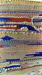 Detail of Bootz Hand Woven Tapestry (sswj) Tags: tapestry originalart bootz sheri weaving weavingdetail tapestrydetail composition leicadlux4 availablelight existinglight naturallight beautifultapestry scottjohnson
