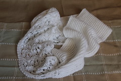 Estonian blossom lace and brioche infinity scarf (firestarcocoon) Tags: lace brioche scarf infinity