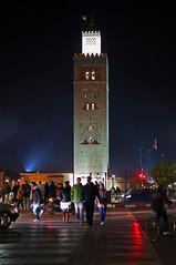 Night view of Koutoubia Mosque (vil.sandi) Tags: minarettderkoutoubiamoschee nightviewofkoutoubiamosque djemaaelfna medina marrakech marocco
