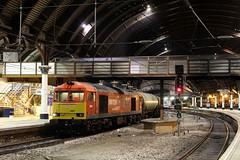 60007 6D43 York station 19.04.2017 (Dan-Piercy) Tags: dbcargo tug class60 60007 yorkstation plt5 6d43 jarrow lindsey tank empties ecml