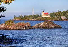 The Copper Harbor Lighthouse, Copper Harbor, Michigan (PhotosToArtByMike) Tags: copperharborlighthouse copperharbor lighthouse lightstation keweenawpeninsula rockycoastline michigan mi upperpeninsulaofmichigan lakesuperior rockformations bluewater upperpeninsula up uppermichigan