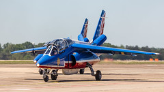 Patrouille de France Taxi-2 (4myrrh1) Tags: patrouilledefrance alpha jet aircraft airplane aviation airshow airplanes french flight flying flightdemonstrationsquadron flightdemonstrationteam taxi maxwell al alabama afb airforce military colorful