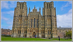 History-England-Magnificent Wells Cathedral. (Bill E2011) Tags: history england somersetwells cathedral magnificent standrew architecture stonework stonemasons medieval listed stainedglass