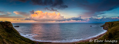 Saltwick Bay pano sunset (1 of 1) (eborimages) Tags: 5dmk3 coast landscape water artistic beautiful blue britain british color colour contrast england english environment europe exterior landmark north northyorkmoors northyorkshire outdoor outdoors saltwickbay sky summer sunrise sunset unitedkingdom weather whitby yorkshire